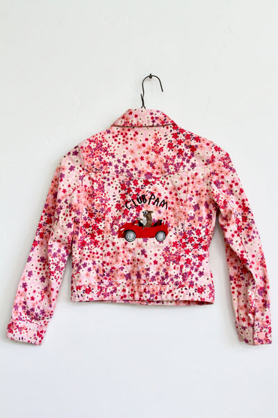 CLUB PAM, GAP KIDS FLORAL EMBROIDERED DENIM JACKET