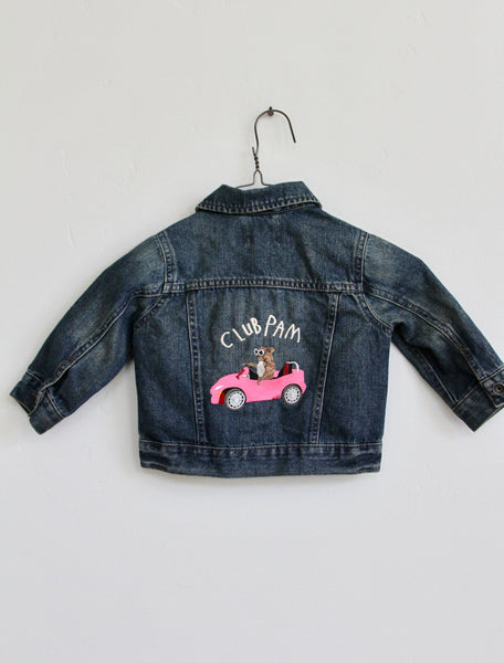 CLUB PAM, EMBROIDERED KIDS 18-24 MONTHS DENIM JACKET