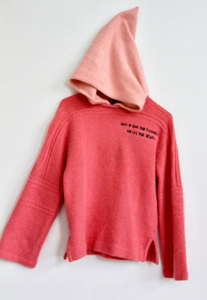 WAKE UP FROM YOUR NIGHTMARE, PINK ANGORA SWEATSHIRT