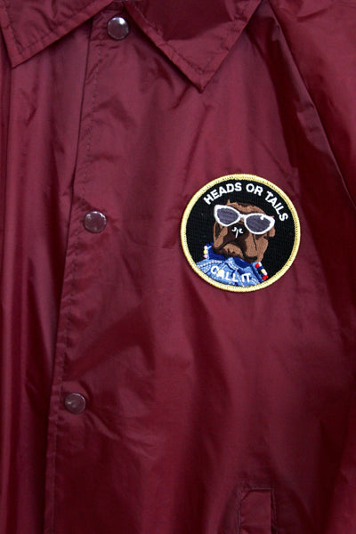 WHAT A TIME TO BE ALIVE, MAROON COACHES JACKET