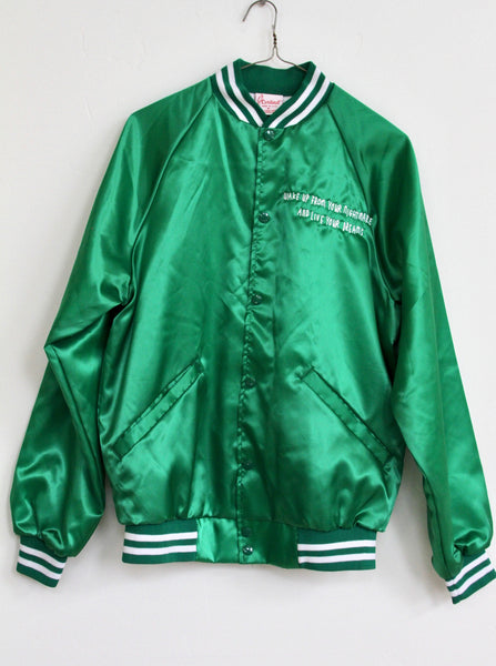 WAKE UP FROM YOUR NIGHTMARE, EMERALD BOMBER JACKET
