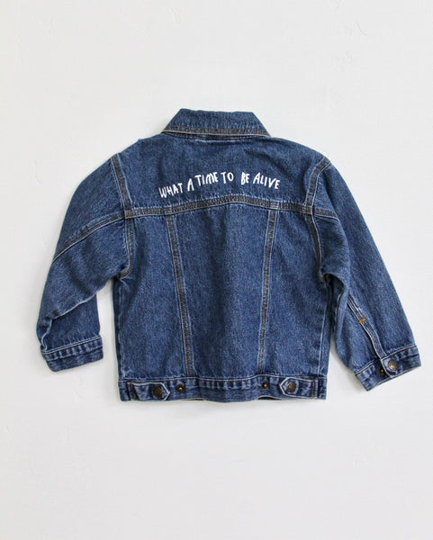 WHAT A TIME TO BE ALIVE, DENIM 3T JACKET
