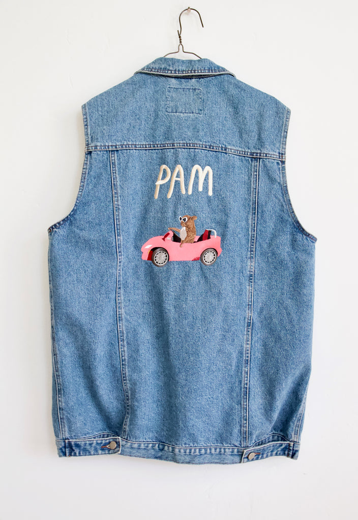 PAM CRUISE Oversized Denim Vest