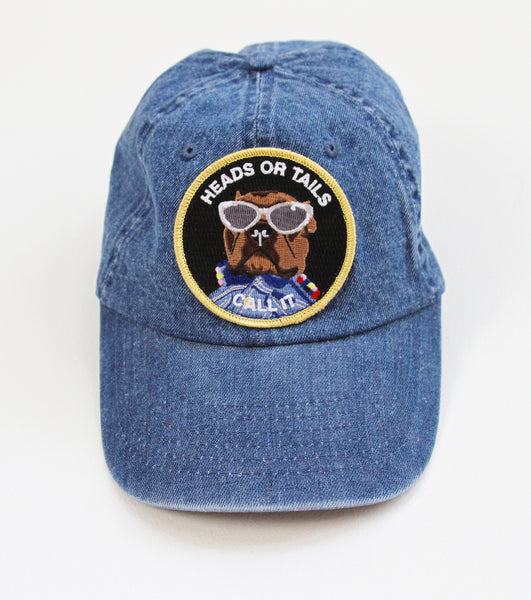 HEADS OR TAILS denim cap
