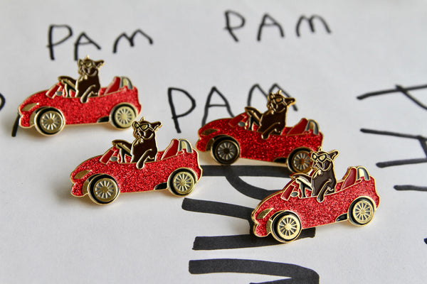 PAM CRUISE pins, SPARKLE !