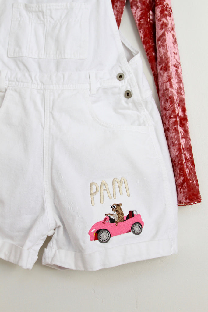 PAM CRUISE, Embroidered Overalls
