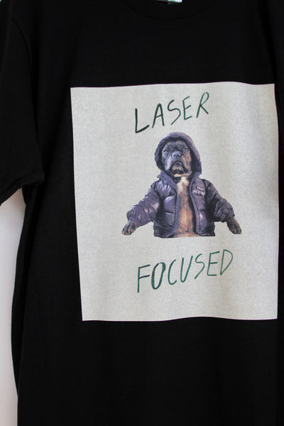 LASER FOCUSED, Power + Commitment Tee