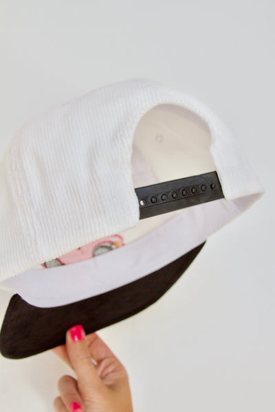 White Corduroy Crush PAM Cruise Cap