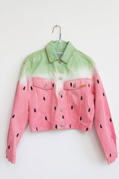 PAM, WATERMEL Embroidered Denim Jacket
