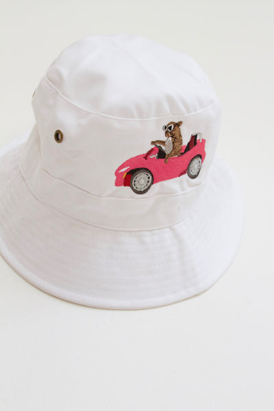White Denim Bucket