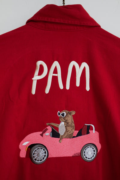 Pam Cruise, Red Runner Denim Button Up
