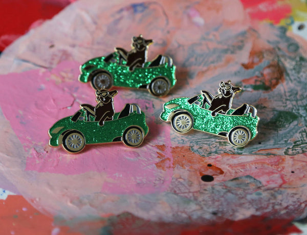 GREEN PAM CRUISE pins, SPARKLE !