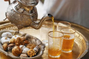 Moroccan Mint Tea with Cookies
