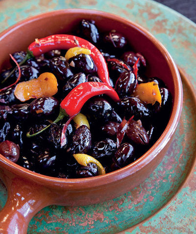 Spicy Moroccan Black Olives