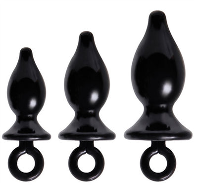 Adam and Eve Anal Trainer Kit - Black AE-AT-8028-2