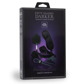 Fifty Shades Darker Principles of Lust Romantic Couples Kit - Black