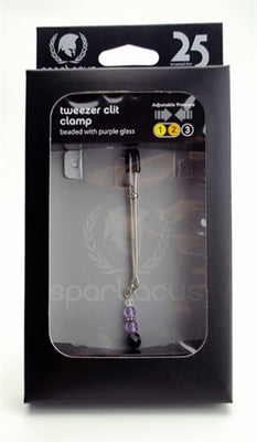 Adjustable Clit Clamp With Purple Beads SPF-202