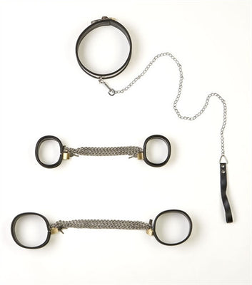 5-Piece Steel Band Bondage Set - Large RP-GS11L