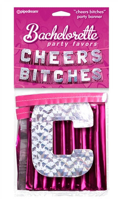 Bachelorette Party Favors Cheers Bitches Party Banner PD6014-11