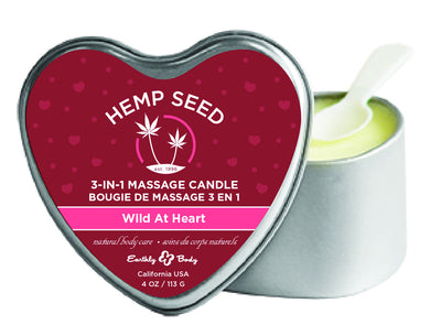 3 in 1 Heart Massage Candle - Wild at Heart EB-HSCV050