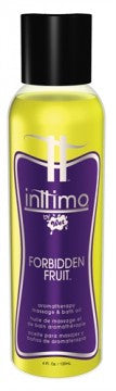 Inttimo by Wet Aromatherapy Bath and Massage Oil - Forbidden Fruit - 4 Oz.