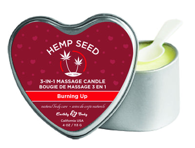 3 in 1 Heart Massage Candle - Burning Up EB-HSCV084