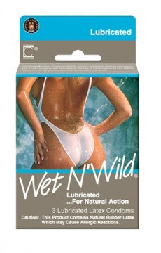 Contempo Wet N Wild Lubricated Condoms - 3 Pack - undercoverparadise.com