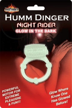 Humm Dinger Night Rider Glow in the Dark Vibrating Penis Ring.