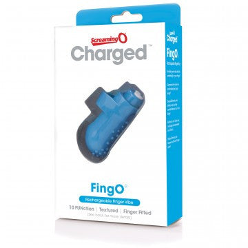 Charged Fingo Rechargeable Finger Vibe - Blue