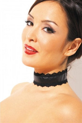 Leather and Lace Choker ALR-CH-105