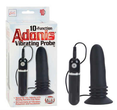 10-Function Adonis Vibrating Probe - Black SE0404103