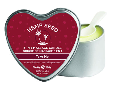3 in 1 Heart Massage Candle - Take Me EB-HSCV0661