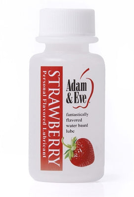 Adam and Eve Flavored Lubricant - Strawberry - 1 Oz AE-LQ-7885-2