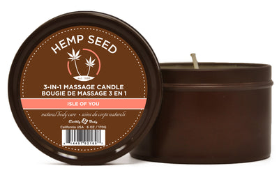 3 in 1 Isle of You Candle With Hemp - 6 Oz. EB-HSC052