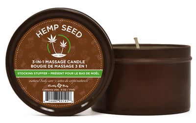 3 in 1 Stocking Stuffer Candle With Hemp - 6 Oz. EB-HSC0027
