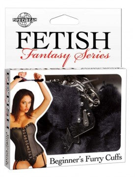 Fetish Fantasy Beginners Furry Cuffs Black - undercoverparadise.com