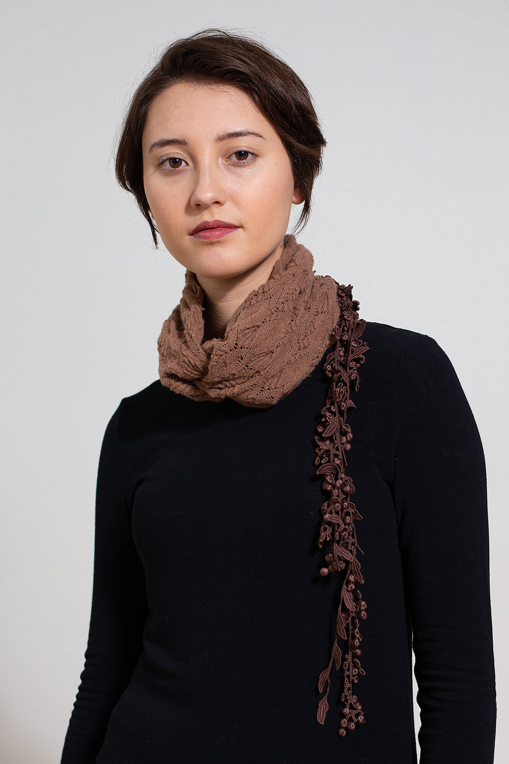 Knit Wool Headband Neck Warmer