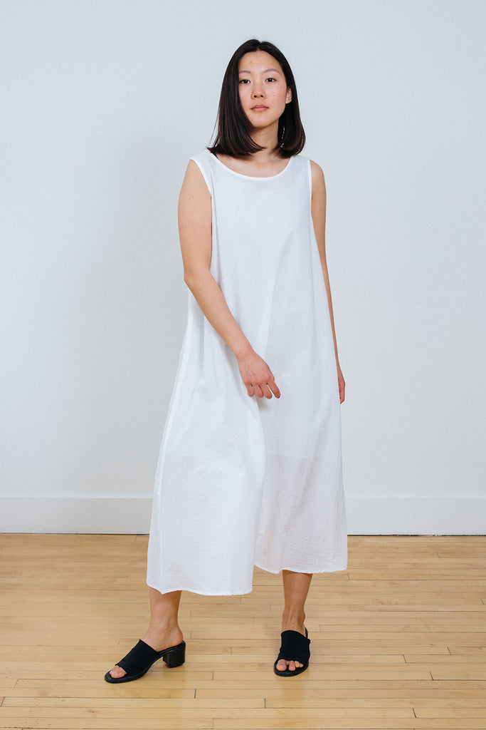 White Cotton Long Dress