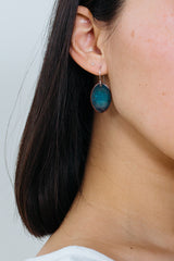 Turquoise Single Scale Earrings