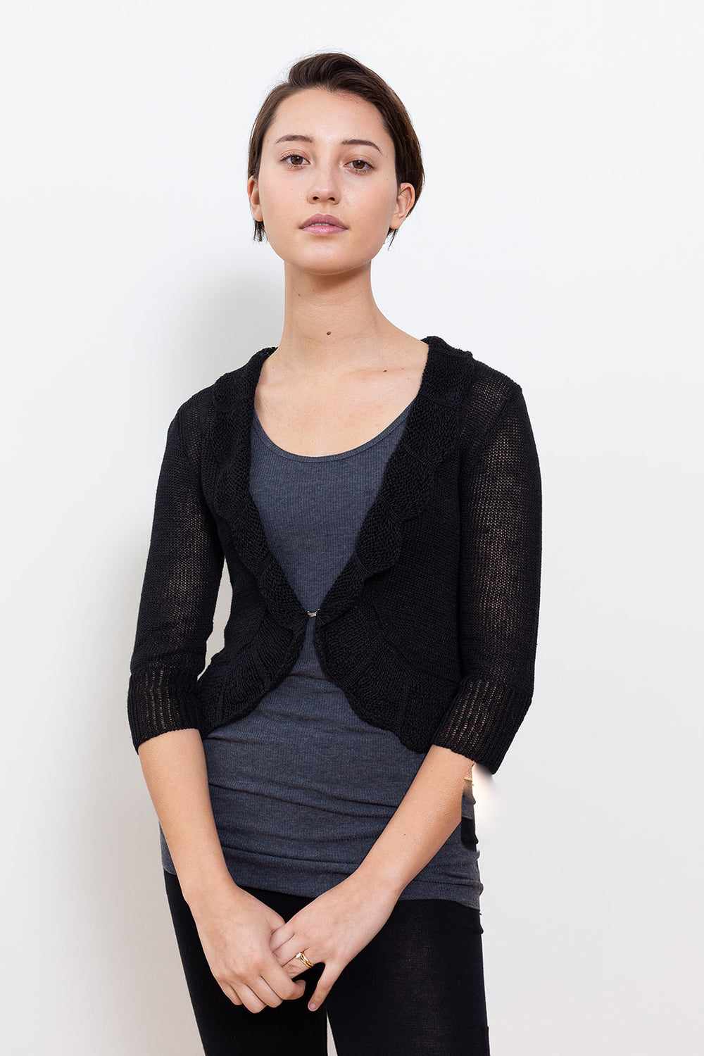 Lace Cardigan, Black