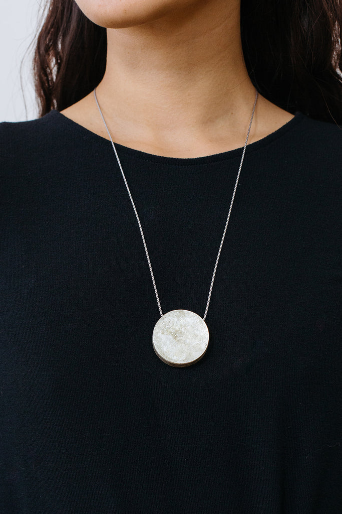 Circle Box Pendant Necklace