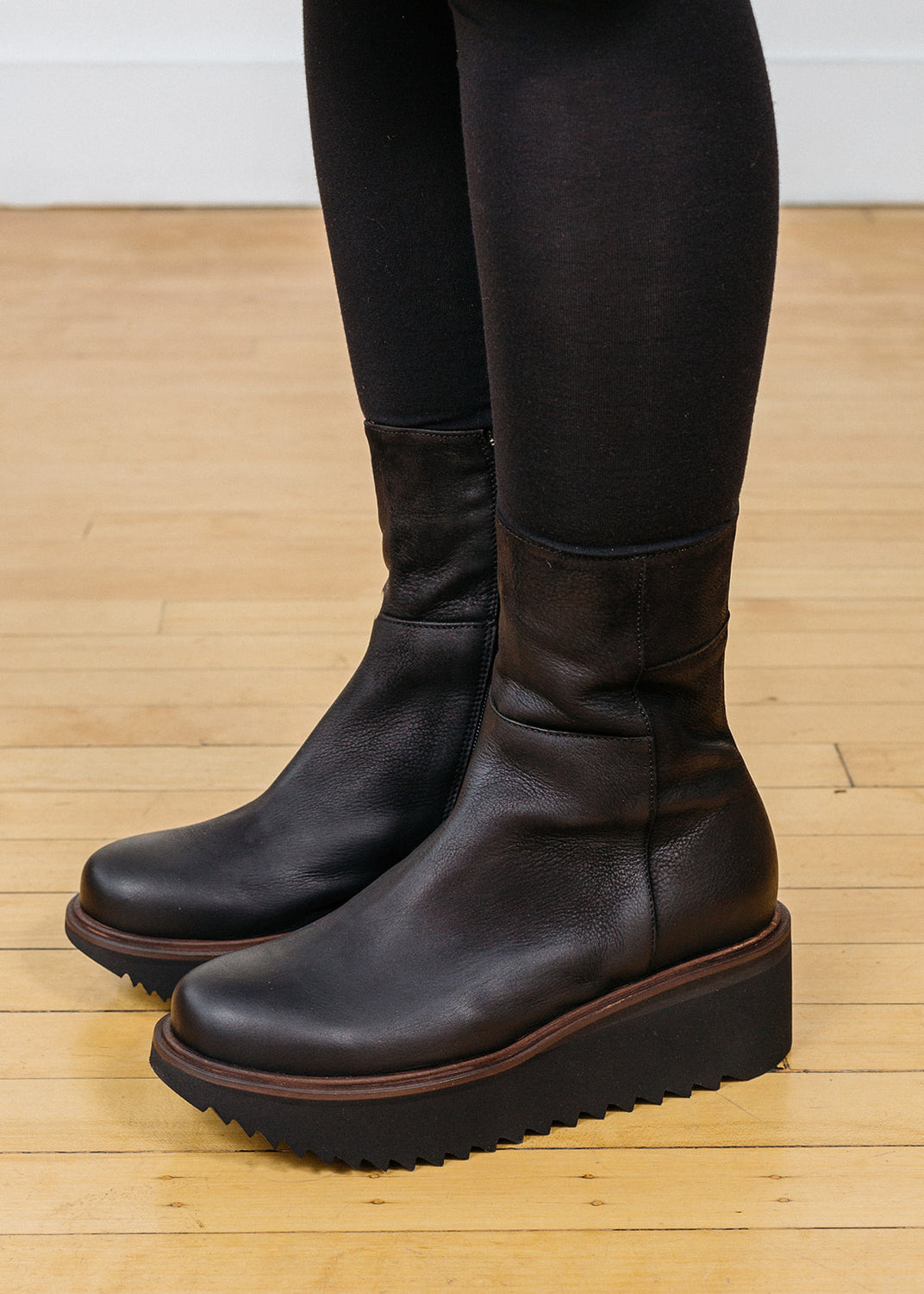 Short Wedge Boots