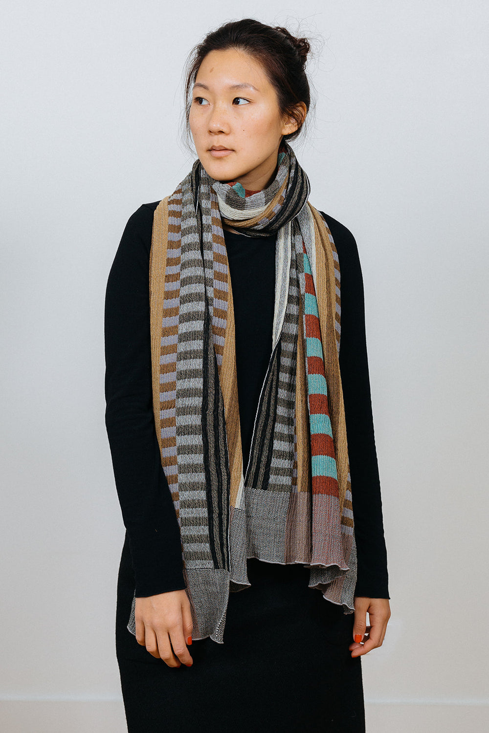 Prime Stripes Wool Shawl