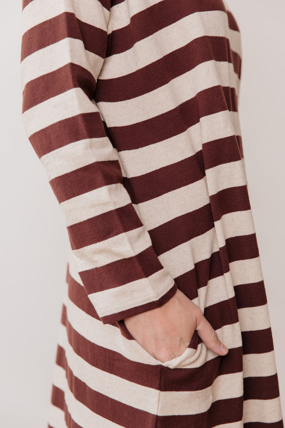 Knit Pullover Dress, Striped