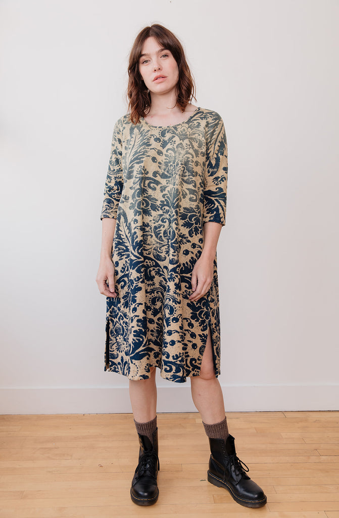 IDG Flannel Damask Print OLIVE Dress