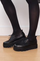 Lace-Up Platform Shoes