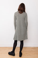 A-Line Knit Dress, Striped