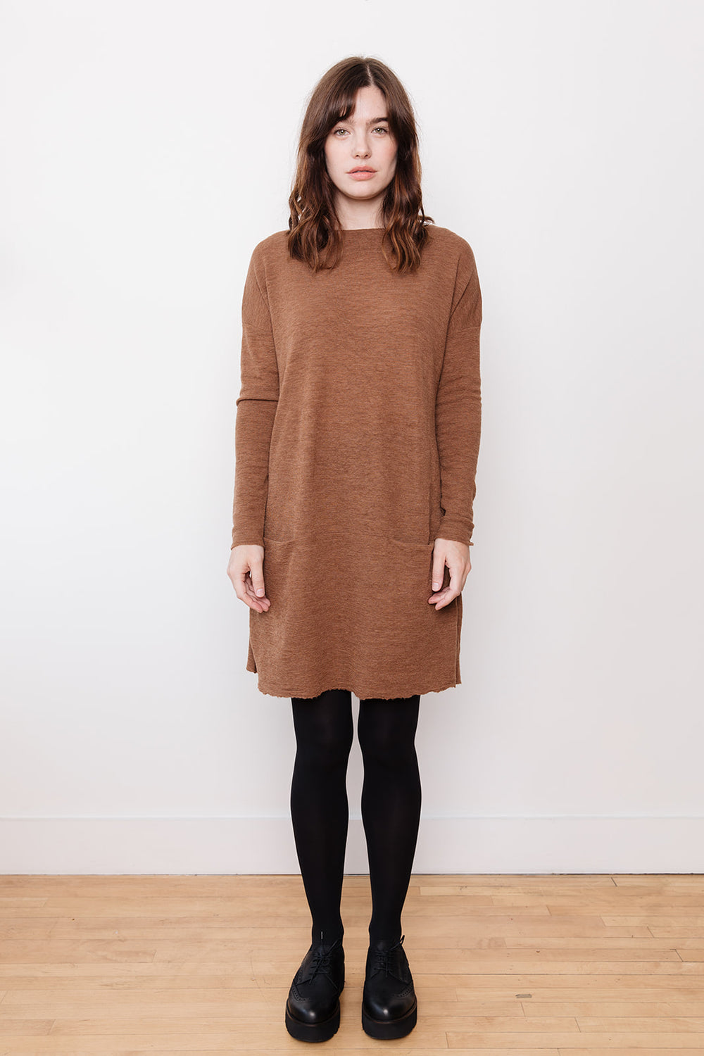 Tunic Dress with Pockets, Camel