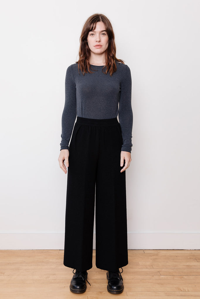Knit Pants, Black