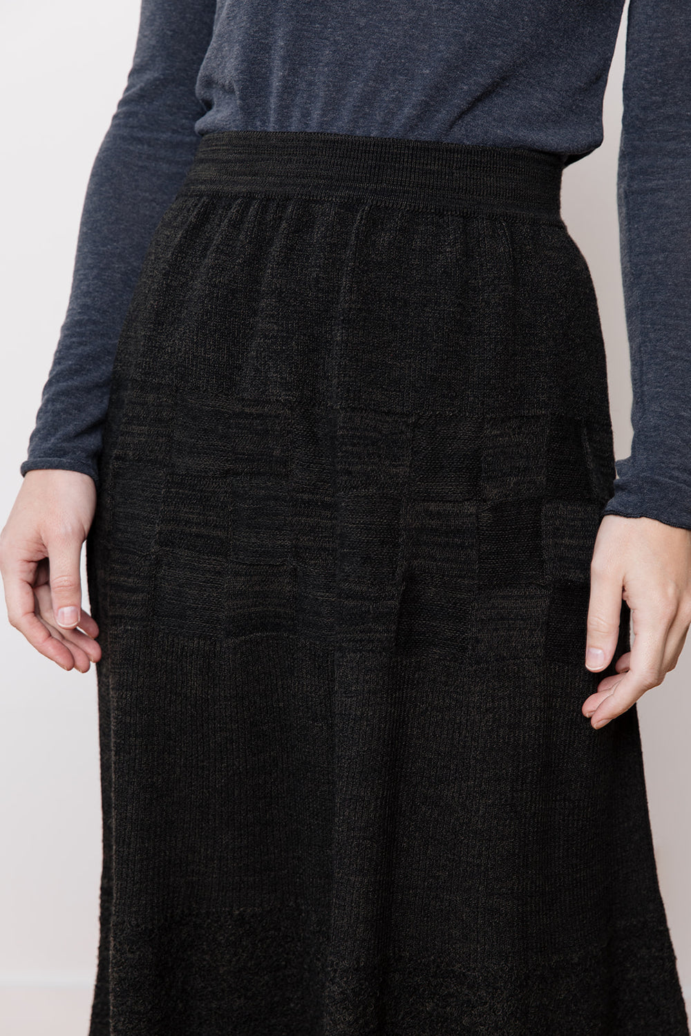 Charcoal Knit Skirt